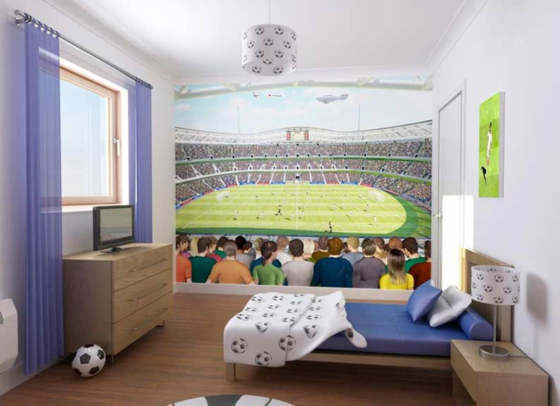 Football Crazy Wallpaper mural